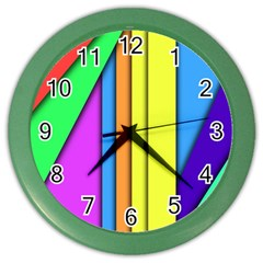 More Color Abstract Pattern Color Wall Clocks