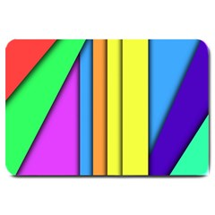 More Color Abstract Pattern Large Doormat