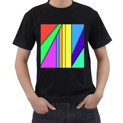More Color Abstract Pattern Men s T-Shirt (Black)