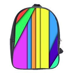 More Color Abstract Pattern School Bags(Large)