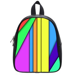 More Color Abstract Pattern School Bags (Small)