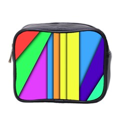 More Color Abstract Pattern Mini Toiletries Bag 2-Side