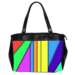 More Color Abstract Pattern Office Handbags (2 Sides)