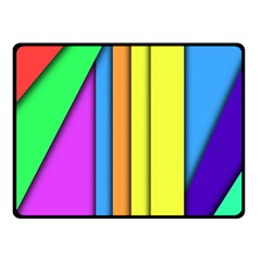 More Color Abstract Pattern Fleece Blanket (Small)