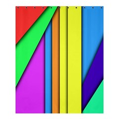 More Color Abstract Pattern Shower Curtain 60  x 72  (Medium)