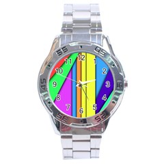 More Color Abstract Pattern Stainless Steel Analogue Watch
