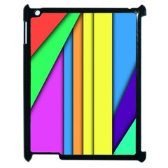 More Color Abstract Pattern Apple iPad 2 Case (Black)