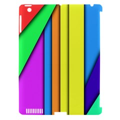 More Color Abstract Pattern Apple iPad 3/4 Hardshell Case (Compatible with Smart Cover)