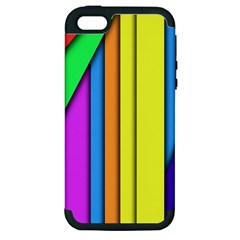 More Color Abstract Pattern Apple iPhone 5 Hardshell Case (PC+Silicone)