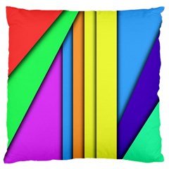 More Color Abstract Pattern Large Flano Cushion Case (One Side)