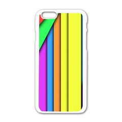 More Color Abstract Pattern Apple iPhone 6/6S White Enamel Case