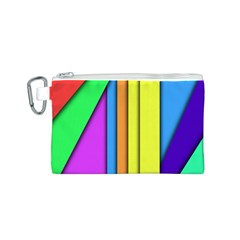 More Color Abstract Pattern Canvas Cosmetic Bag (S)
