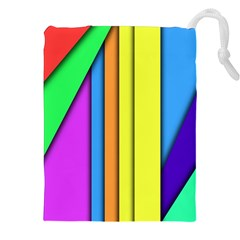 More Color Abstract Pattern Drawstring Pouches (XXL)