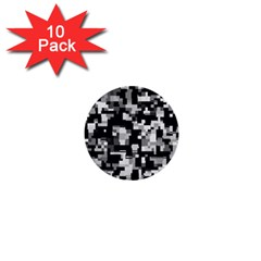Noise Texture Graphics Generated 1  Mini Buttons (10 pack)