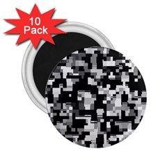 Noise Texture Graphics Generated 2.25  Magnets (10 pack)