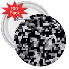 Noise Texture Graphics Generated 3  Buttons (100 pack)