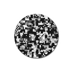 Noise Texture Graphics Generated Magnet 3  (Round)