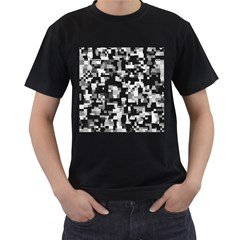 Noise Texture Graphics Generated Men s T-Shirt (Black) (Two Sided)