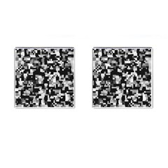 Noise Texture Graphics Generated Cufflinks (Square)