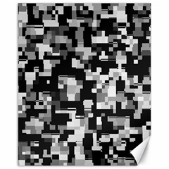 Noise Texture Graphics Generated Canvas 16  x 20