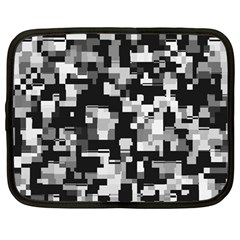 Noise Texture Graphics Generated Netbook Case (Large)