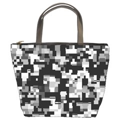 Noise Texture Graphics Generated Bucket Bags