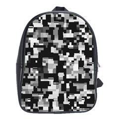 Noise Texture Graphics Generated School Bags(Large)