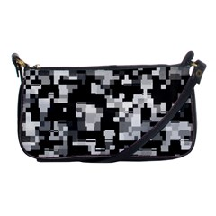 Noise Texture Graphics Generated Shoulder Clutch Bags