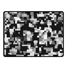 Noise Texture Graphics Generated Fleece Blanket (Small)
