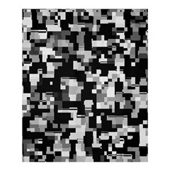Noise Texture Graphics Generated Shower Curtain 60  x 72  (Medium)