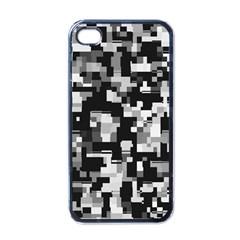 Noise Texture Graphics Generated Apple iPhone 4 Case (Black)