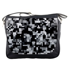 Noise Texture Graphics Generated Messenger Bags