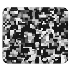 Noise Texture Graphics Generated Double Sided Flano Blanket (Small)
