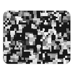 Noise Texture Graphics Generated Double Sided Flano Blanket (Large)