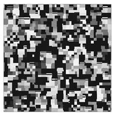 Noise Texture Graphics Generated Large Satin Scarf (Square)