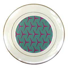 Pattern Background Structure Pink Porcelain Plates