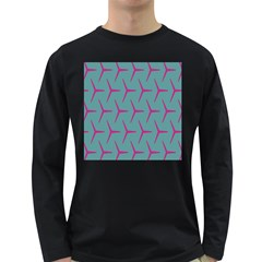 Pattern Background Structure Pink Long Sleeve Dark T-Shirts