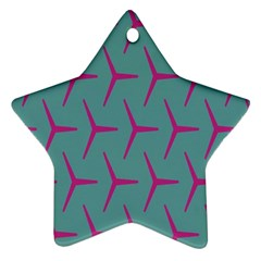 Pattern Background Structure Pink Star Ornament (Two Sides)