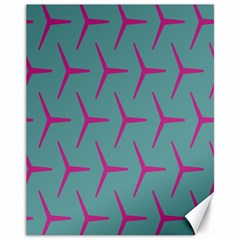 Pattern Background Structure Pink Canvas 11  x 14