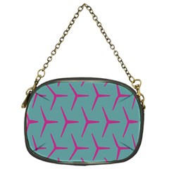 Pattern Background Structure Pink Chain Purses (One Side)