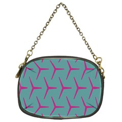 Pattern Background Structure Pink Chain Purses (Two Sides)