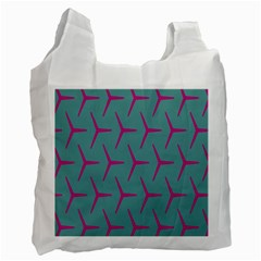 Pattern Background Structure Pink Recycle Bag (One Side)