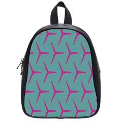 Pattern Background Structure Pink School Bags (Small)