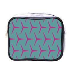 Pattern Background Structure Pink Mini Toiletries Bags