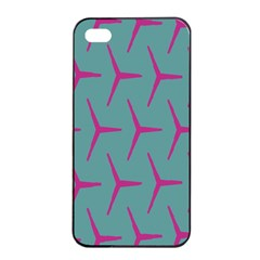 Pattern Background Structure Pink Apple iPhone 4/4s Seamless Case (Black)