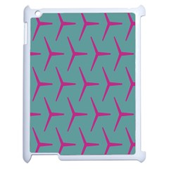 Pattern Background Structure Pink Apple iPad 2 Case (White)