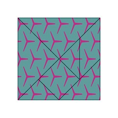 Pattern Background Structure Pink Acrylic Tangram Puzzle (4  x 4 )