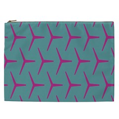 Pattern Background Structure Pink Cosmetic Bag (XXL)