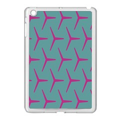 Pattern Background Structure Pink Apple iPad Mini Case (White)
