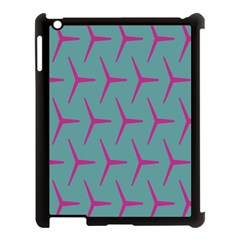 Pattern Background Structure Pink Apple iPad 3/4 Case (Black)
